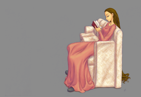 AMR: Aylia Reading by SharmClucas