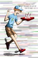 Hermes Pizza Delivery Man by stopthinkmove