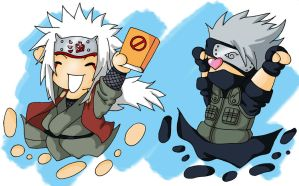 Kakashi Chibi on Kakashi And Jiraiya Chibi By Japanfanzz Jpg