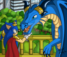 .:PC BBSC:. King Sonic and Sapphire by BlueStylz