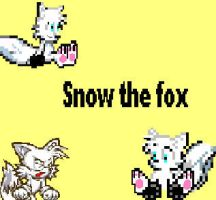 Snow the fox by CozandTails