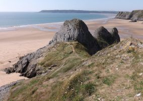 Three Cliffs, Great Tor, and Oxwich Point by nonyeB