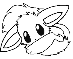 eevee lineart 4 request by michy123