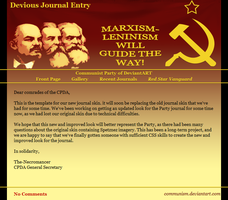 #Communism Journal Skin by ManMadeOfGold