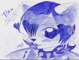 Doodle-Blue Thorn by flying-wolf-32