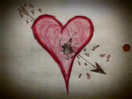 Unusually Dramatic Heart by TamperdSoul