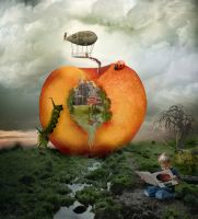 James and the Giant Peach by futuregrrl