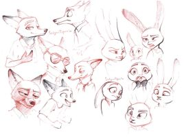 Judy and Nick sketch page2 by SatynaPaper
