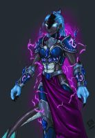 NetherDrake in humanoid form by SoulRanger