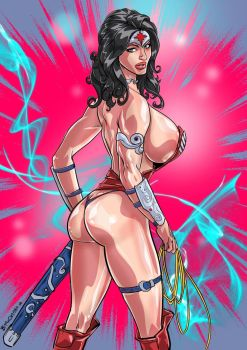 GUSH-BOMBED-Wonder-Woman Colors by Gush-Bomb-Comix