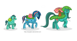 Saur Family Ponikemon by MySweetQueen