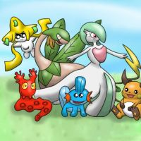 My Team on Pokemon Sapphire by littlemisskirby