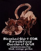 Bleached Shirt COMM Kuro Chesire Grell by anotherclichejrocker