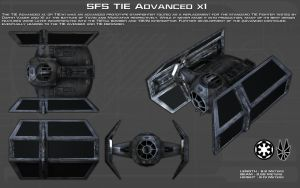 TIE Advanced X1 ortho [New] by unusualsuspex