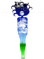 Goddess Of Earth And Sky by ravenaudron