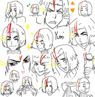 Yumi's funny faces by Ainwen27