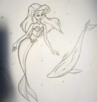 Ariel Sketch by rivermer