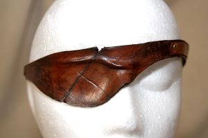 Leather Steampunk Eyepatch by Drocan