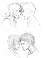 Touching Foreheads by Ilusien