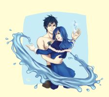 Gruvia for Lolot by PandaleonSaa