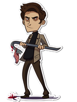 Ted Bundy Sticker by nupao