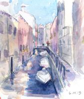 Venice Watercolor by Aileen-Kailum