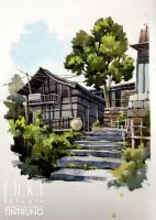 Sketch Watercolor by Tintrung