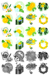 The cute icons of dandelion objects by atelier-bw