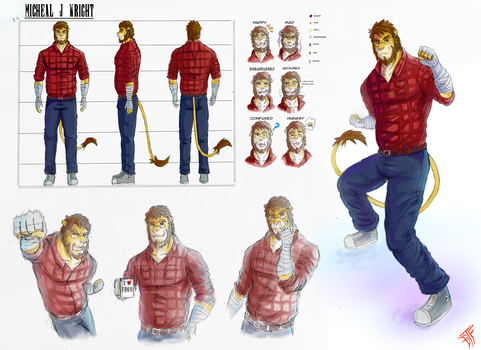 (COMMISSION) Micheal J Wright Character sheet by BloodThirstyfang