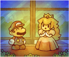 Paper Mario 64: Meeting Peach by Cavea