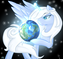 God always looks at our wold by Pan-AuraPuch