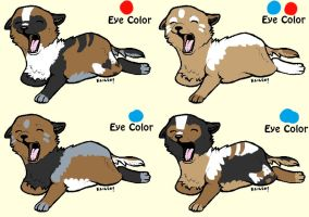 4 Pups to ~EquinoxFox by MichelsAdoptions