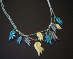 Swirly Wing Necklace Detail by CraftMagic