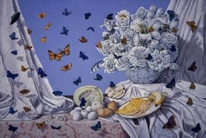 Still Life with Butterflies by ronmarlett