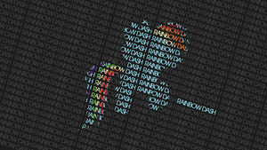 Typography - Rainbow Dash by Antik9797