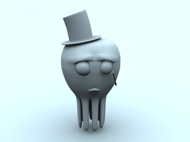 Depressed Octopus in a Tophat by Squint911