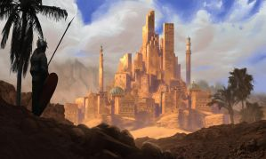 City in the desert by MarkTarrisse