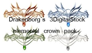 Elemental crown pack by 3DigitalStock