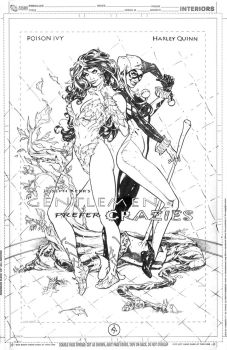 Harley Quinn and Poison Ivy Commission by DrewEdwardJohnson