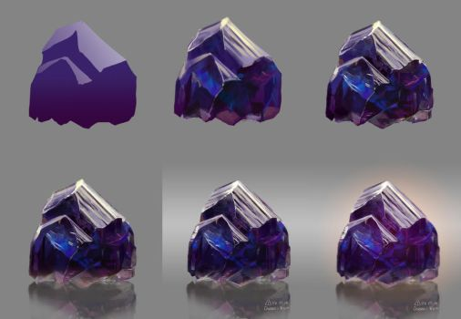 Step by step Violet crystal by Cheza-Kun