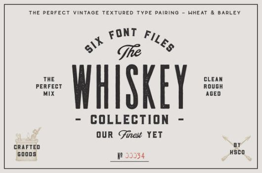 The Whiskey Font Collection by creativework247