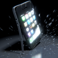 Dropped iphone by Regus-Ttef
