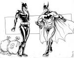 Catwoman and Batman Commission by Supajoe
