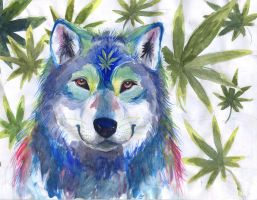 Pot Wolf Psychedelia by Whiplash3