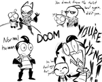 Zim doodles of doom 1 by KGN-000