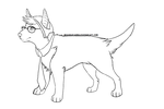 Hipster Bull Terrier Lineart by iHeadsetShiba