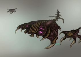Zerg Brood Lord with Broodlings by Infernal-Feline