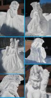 ATHENA Snow Sculpture by Deorse
