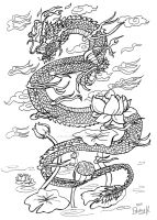 Some sort of Oriental dragon (old) by Somnusvorus