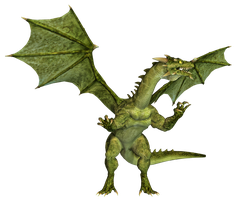 Dragon 17 PNG Stock by Roy3D